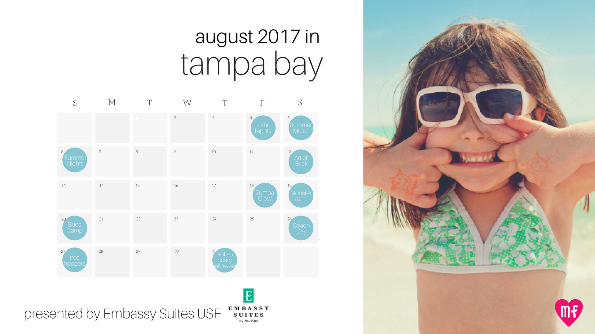 Click Here To Download Your August Calendar Of Tampa Bay Family Fun.